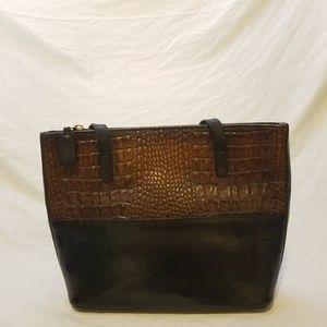 BRAHMIN Two Toned Tuscan Shoulder Bag
